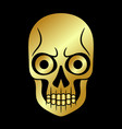 skull gold golden element collection vector image vector image