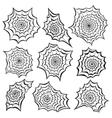 Spiders web set Halloween set vector image vector image