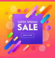 spring sale poster colorful design background vector image vector image