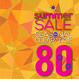 Summer Sale Modern Background vector image vector image