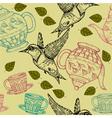 teapot hummingbird vector image vector image