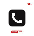 telephone call button icon vector image vector image