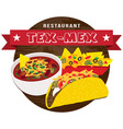 tex mex food banner vector image