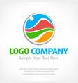 travel logo color vector image vector image