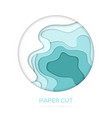 turquois abstract layout - paper cut banner vector image vector image