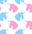 Unicorn seamless pattern Blue fabulous beast with vector image vector image