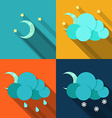 Weather icons in flat style vector image