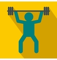 Weightlifting icon in flat style vector image vector image