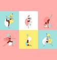 woman yoga design concept vector image