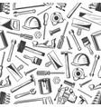 work tool seamless pattern of repair equipment vector image vector image