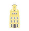 Yellow european style classic building facade