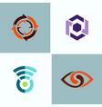 abstract circle logos vector image