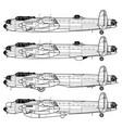 avro lancaster vector image vector image