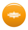 badge ribbon icon orange vector image vector image