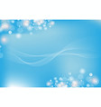 beautiful blue light with wave line background vector image