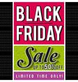 Black friday sale banner on patterned background
