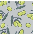 Branches of olives seamless pattern Hand drawn