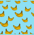 bunch of bananas seamless pattern vector image vector image