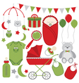 Christmas Baby Set vector image vector image