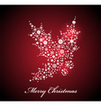Christmas card with Red Holly vector image