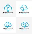 cloud logo vector image vector image