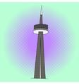 CN Tower pop art vector image