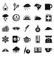 coffee making icons set simple style vector image