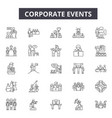 corporate events line icons for web and mobile vector image vector image
