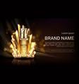 crystal cosmetics pump bottle mock up banner vector image vector image