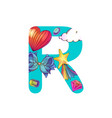 cute magic letter r vector image