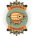 Dirigible vector image vector image