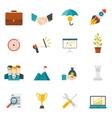 Entrepreneurship Flat Color Icons vector image