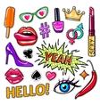Fashion Pop Art Patches Set vector image