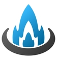 Fire Location Gradient Icon vector image