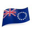 Flag of Cook Islands vector image vector image