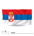 Flag of Serbia vector image vector image