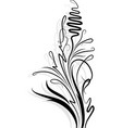 floral branch with shadow vector image vector image