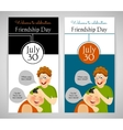 Friendship Day Flyer banner or invitation vector image