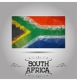 geometric polygonal South Africa flag vector image vector image