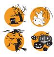 halloween set 2 vector image