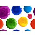 hand drawn polka dots seamless texture vector image