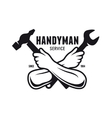 Handyman service emblem Carpentry related vector image vector image