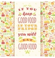 Healthy eating background with quote vector image vector image