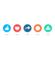 icon like share friend comment follow vector image