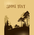 landscape trees silhouettes vector image vector image