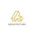 letter a logo design inspiration templatec vector image vector image