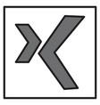 logo xing icon social social media social network vector image vector image