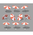 Low poly sun umbrella vector image