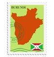 mail to-from Burundi vector image vector image