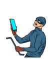 masked robber burglar vector image